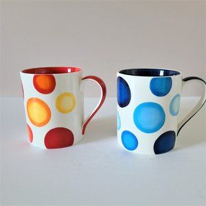 2 Crate&Barrel mugs. Like new condition.
